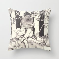 Sally Forth Throw Pillow