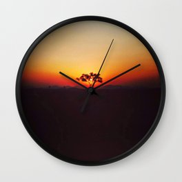 Puesta Del Sol Wall Clock