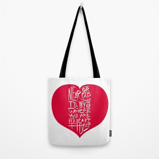 In a Heartbeat Tote Bag