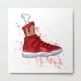 BLOODY JORDAN 11's (RED) Metal Print