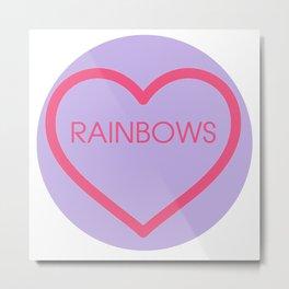 Conversation Love Heart - Rainbows Metal Print
