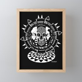 rave party techno hardtek tribe artwork Framed Mini Art Print