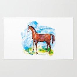 Horse colourfull illustration Rug