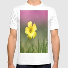 Yellow on Pink Mens Fitted Tee White MEDIUM