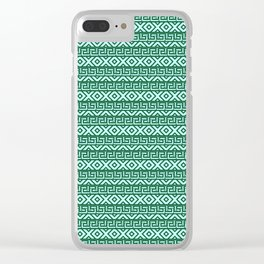 Tribal lines Clear iPhone Case