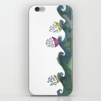 boats iPhone & iPod Skins featuring Boats by K. Fry Illustration