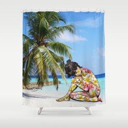 Plumeria Spirit Shower Curtain