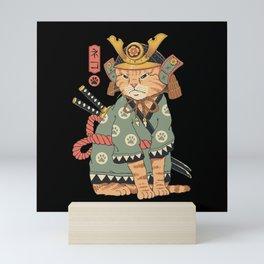 Neko Samurai Mini Art Print