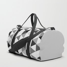 Black and white triangles Duffle Bag