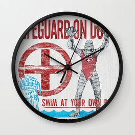 The Creature Lifeguard Is On Duty (1) Wall Clock