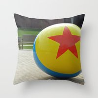 toy story Throw Pillows featuring Toy Story Ball by Jillian