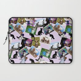Collage of  Cat Photographs Laptop Sleeve