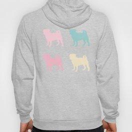 Pastel Pugs Pattern Hoody