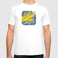 Donuts White Mens Fitted Tee MEDIUM