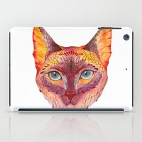 cat coquillette iPad Cases featuring cat by Ola Liola