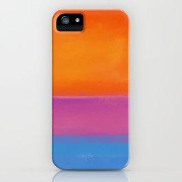 Rothko Interpretation Orange Blue iPhone Case