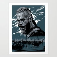 vikings Art Prints featuring Vikings by Lionel Charpentier