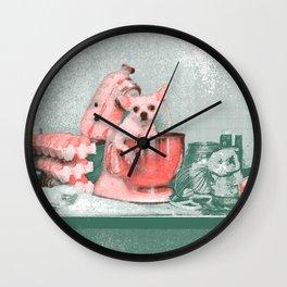 Cooking chihuahua Wall Clock