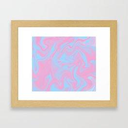 Cotton candy color melt Framed Art Print