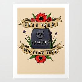 Tell Your Friends Art Print