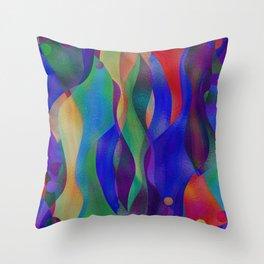 Colorflow Throw Pillow