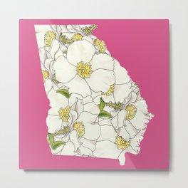 Georgia in Flowers Metal Print