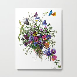 Pansy Delight Metal Print