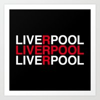 liverpool Art Prints featuring LIVERPOOL by eyesblau