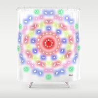 ferris wheel Shower Curtains featuring Ferris Wheel by SBHarrison