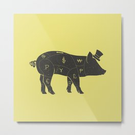 Piggy Bank Metal Print
