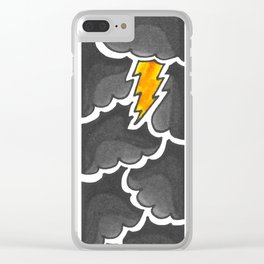 Stormclouds in Grey Clear iPhone Case