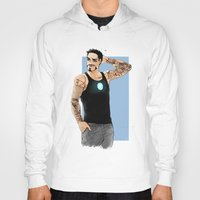 tony stark Hoodies featuring Tony Stark+Sleeve tats  by Krusca