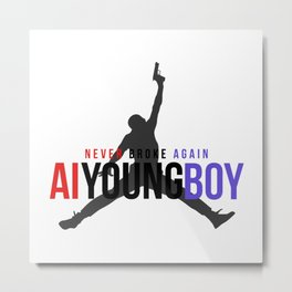 YOUNGBOY - NEVER BROKE AGAIN Metal Print