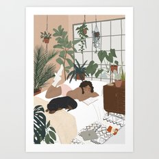 She cute but she snores Art Print