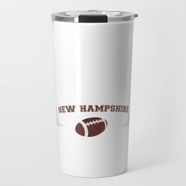 Just a Baller from New Hampshire Football Player Travel Mug