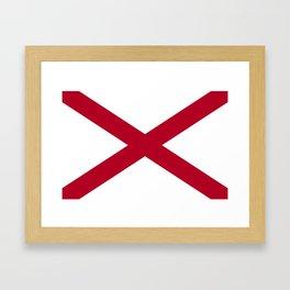 Flag of Alabama-Alabaman,south,birmingham,Montgomery,Jazz,blues,countryside,bible belt,cotton,usa,us Framed Art Print