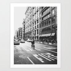 New York City Bicycle Ride in Soho Art Print