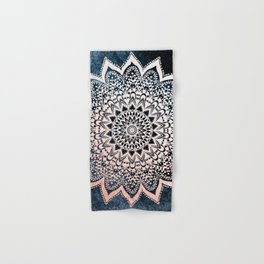 BLUE BOHO NIGHTS MANDALA Hand & Bath Towel