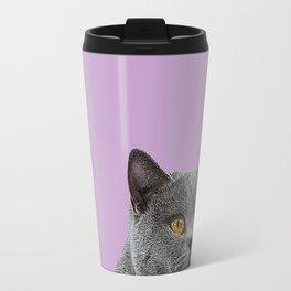 Lavender Home Decor Lilac Decoration British Short haired Cat Bag Pastel Colors Travel Mug