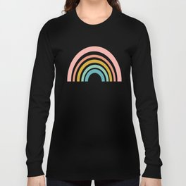Simple Happy Rainbow Art Long Sleeve T-shirt