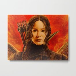 Katniss Everdeen Metal Print