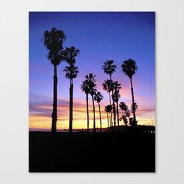 """Sunsets """"Santa Barbara Palms"""" Canvas Print"""