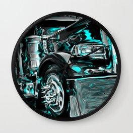 Big rig truck Wall Clock
