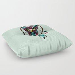 Owl Bird Dreamcatcher Art Floor Pillow