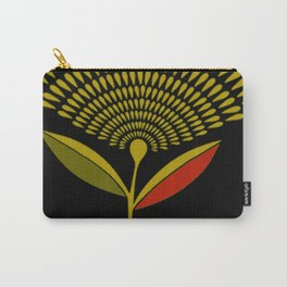 Mid Century Modern Dandelion Seed Head In Aspen Gold Carry-All Pouch