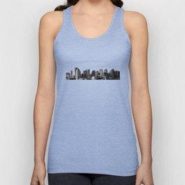 Boston Massachusetts Skyline Black and White Unisex Tank Top