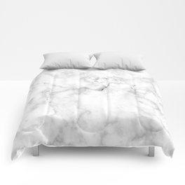 Marble pattern on white background Comforters