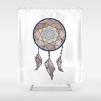 dreamcatcher Shower Curtains featuring Dreamcatcher by AkuMimpi