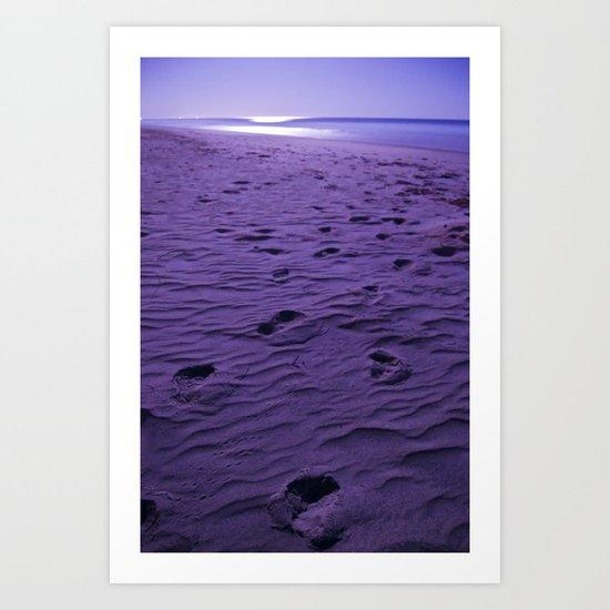 Purple nights  Art Print