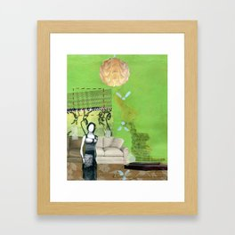Dolly and Easter Bunny Framed Art Print
